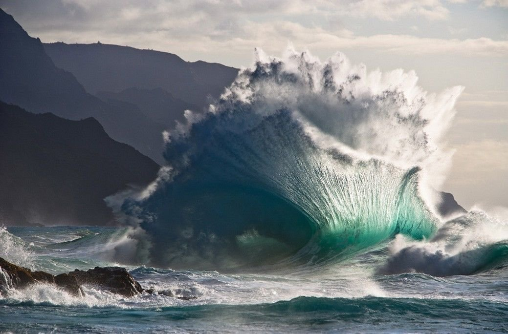 Surfing Big Wave Wall Print POSTER Decor 32x24
