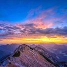 Mountains Sky Sunrise Nature Wall Print POSTER Decor 32x24