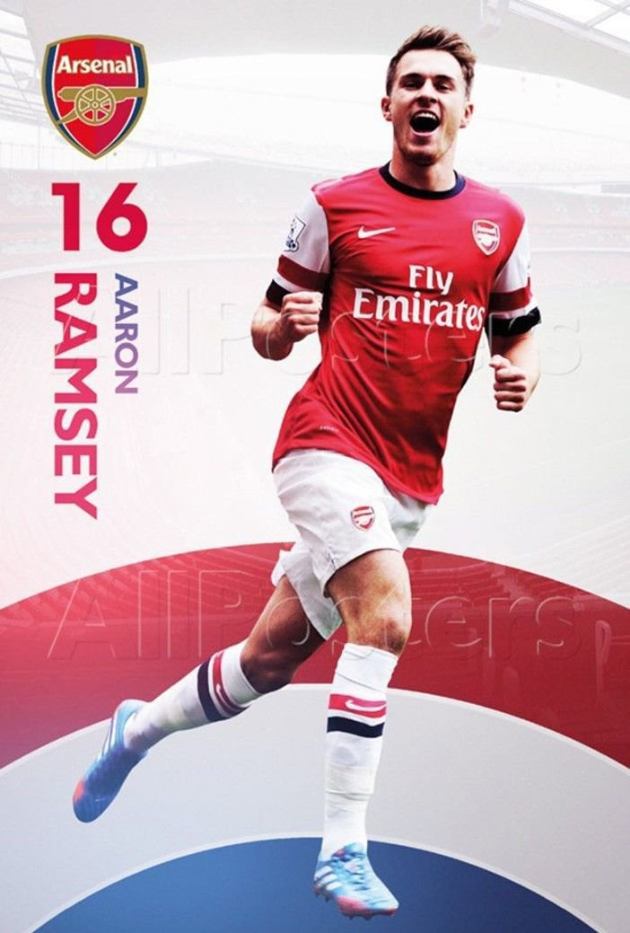 Aaron Ramsey Football Star Wall Print POSTER Decor 32x24