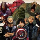 One Piece Avengers Anime Wall Print POSTER Decor 32x24
