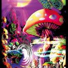 Mushrooms Trippy Art Wall Print POSTER Decor 32x24