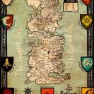 Game Of Thrones Houses Map Westeros New Wall Print POSTER Decor 32x24