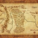 Map Of Middle Earth Lord Of The Rings Wall Print POSTER Decor 32x24