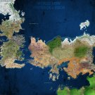 Game Of Thrones World View Westeros Essos Map Wall Print POSTER Decor 32x24
