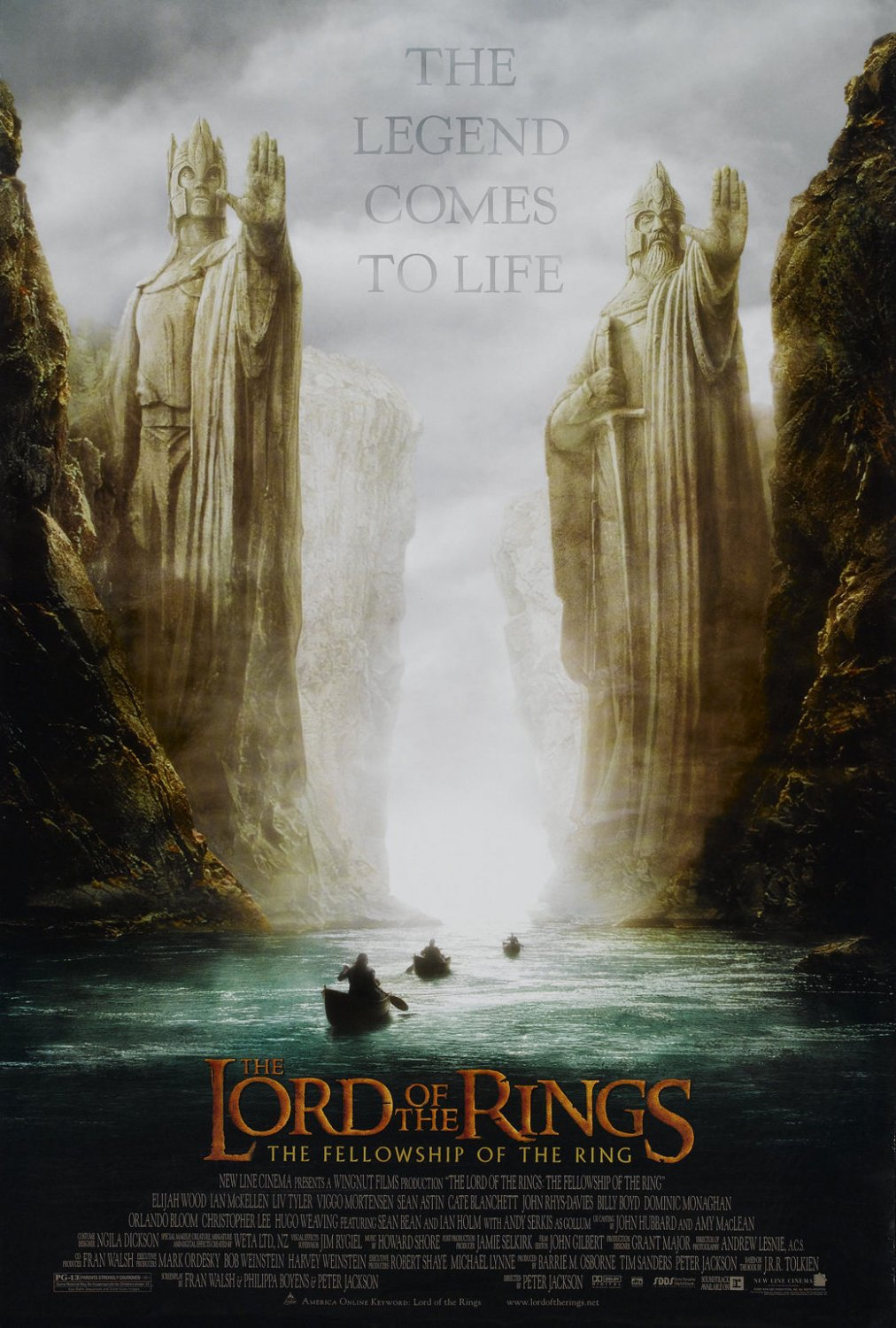 The Lord Of The Rings 1 2 3 Movie Wall Print POSTER Decor 32x24