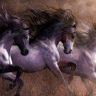 Galloping Horses Wall Print POSTER Decor 32x24