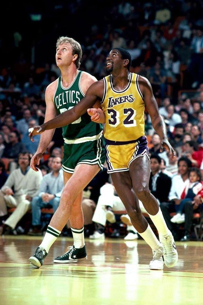Larry Bird VS Magic Johnson Basketball Star Wall Print POSTER Decor 32x24