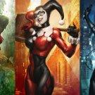 Harley Quinn Batman Arkham City Wall Print POSTER Decor 32x24
