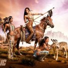 Art Design Girl Native Warrior Women Wall Print POSTER Decor 32x24