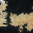 Game Of Thrones Houses Map Westeros TV Show Wall Print POSTER Decor 32x24