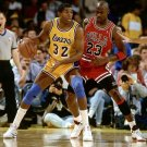 Magic Johnson VS Michael Jordan Basketball Star Wall Print POSTER Decor 32x24