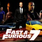 Fast And Furious 7 Hot Movie Wall Print POSTER Decor 32x24