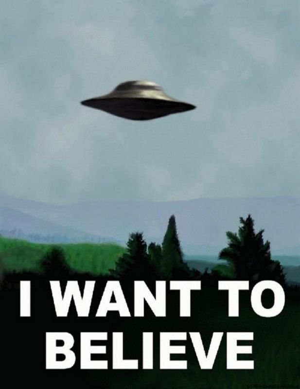 I Want To Believe X Files Art Movie Film UFO Wall Print POSTER Decor 32x24