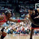Michael Jordan VS Lebron James Basketball Star Wall Print POSTER Decor 32x24