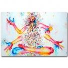 Buddha Sakyamuni Trippy Abstract Art Poster 32x24