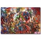 Marvel Superheroes Comic Poster Superman Hulk Black Widow Captain America 32x24