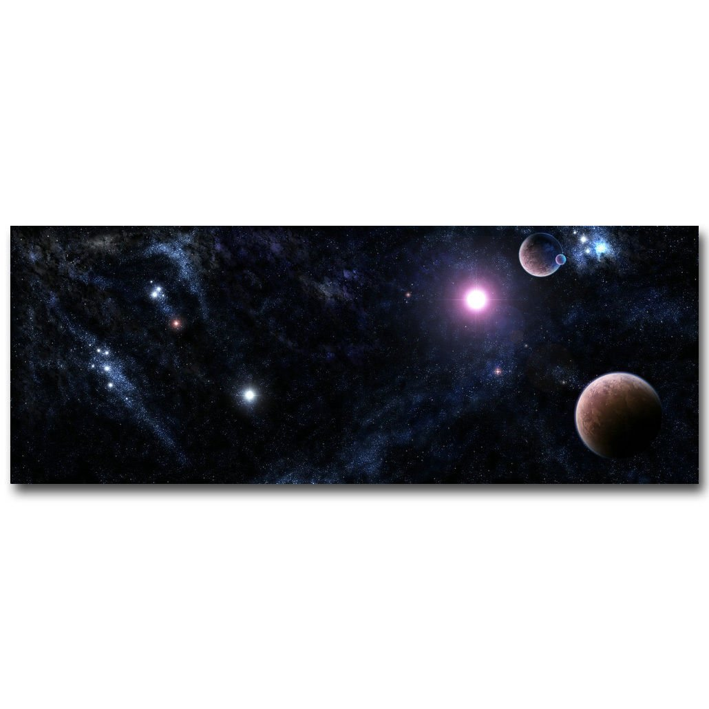 Milky Way Universe Galaxy Landscape Poster Huge Print 32x24