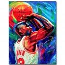 Michael Jordan Dunks Super Basketball Star Art Poster Print 32x24