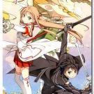 Sword Art Online Anime Art Poster Wall Kirito Asuna 32x24