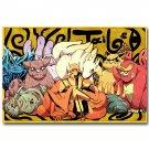 Naruto Shippuden Japanese Anime Poster Sasuke Kakashi 32x24