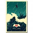 Batman Vs Superman Movie Art Poster Dawn Of Justice 32x24