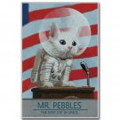 Mr Pebbles A New Cat In Space Funny Poster 32x24