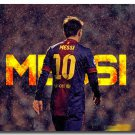 Lionel Messi Soccer Star Sport Art Poster Print 32x24