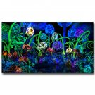 Mushroom Psychedeli C Trippy Abstract Art Poster 32x24