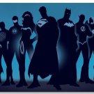 Justice League Comic Movie Poster Superman Batman Wonder Woman Room Decor 32x24