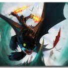 How To Train Your Dragon 2 Cartoon Movie Poster Toothless 32x24