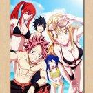Fairy Tail Natsu Erza Anime Poster Wall 32x24