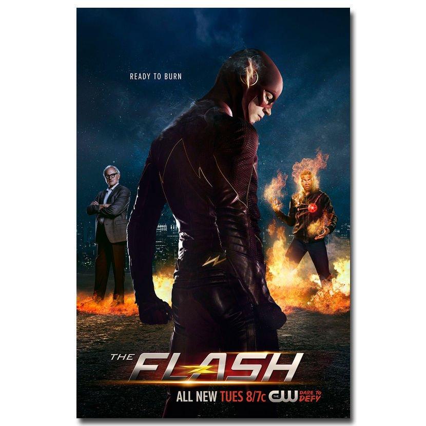 The Flash Season 2 TV Series Wall Poster Room Decor 32x24