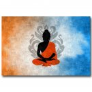 ZEN Lord Buddha Buddhism Trippy Art Poster Print 32x24
