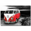 VW Camper Bus Classic Car Art Poster 32x24