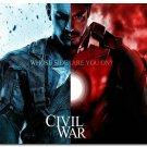Captain America 3 Civil War Superheroes Movie Poster Print 32x24
