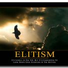 ELITISM Motivational Quotes Art Poster 32x24