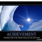 ACHIEVEMENT Motivational Quotes Art Poster Home Decor 32x24