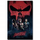 Daredevil Superheroes Movie Comic Poster Home Wall Decor 32x24
