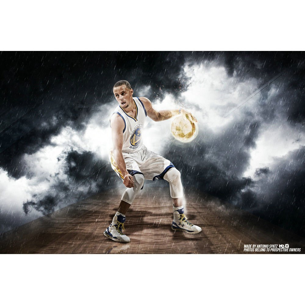 Stephen Curry Basketball Star Poster NBA Warriors 32x24