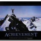 ACHIEVEMENT Motivational Quotes Art Poster 32x24