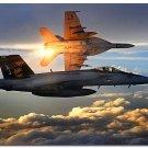 FA 18 Super Hornets Aircraft Art Poster Military Fans Wall Decor 32x24
