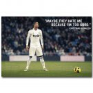 Cristiano Ronaldo Quote Motivational Soccer Art Poster 32x24
