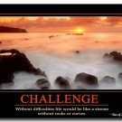 CHALLENGE Motivational Quotes Art Poster 32x24