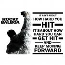 Rocky Balboa Inspirational Motivational Quote Poster 32x24