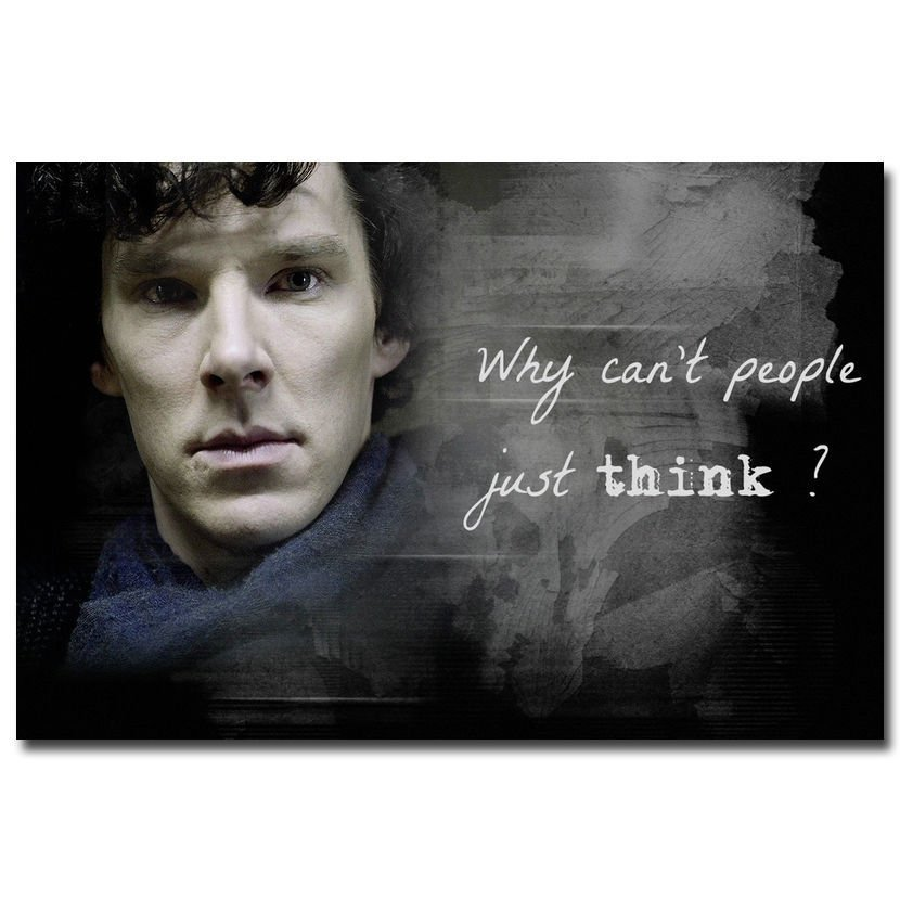Sherlock Quotes TV Series Art Poster 32x24