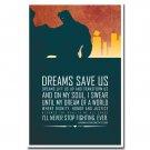 Wonder Woman Superhero Comic Motivational Quote Poster 32x24