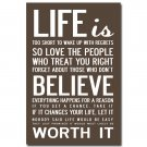 Change Your Life Inspirational Quotes Art Poster Modern Office Home Decor 32x2