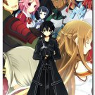 Sword Art Online Anime Art Poster Wall Kirito Asuna 32x24