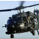 Black Hawk Helicopter Art Poster Military Fans Wall Decor 32x24