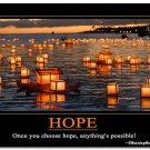 Hope Inspirational Quote Art Poster School Modern Office Decor 32x24